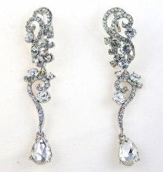 Серьги свадебные в серебре-2 s-128