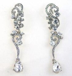 Серьги свадебные в серебре-22 s-128