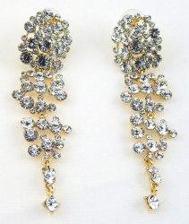 Серьги свадебные в золоте-2 s-131