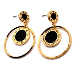 Серьги Желтые с кольцом s-162
