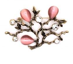 Брошь Дерево роз. b-041