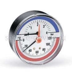 Термоманометр аксиальный Watts F+R818