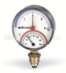 Термоманометр радиальный Watts F+R828