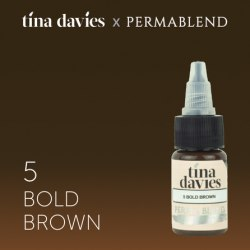 "Пигмент для татуажа бровей Perma Blend / Tina Davies оттенок ""I Love INK"" 5 Bold Brown"