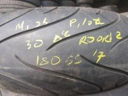 Мотошины 180/55 zr17 Michelin Pilot Road 2 30 неделя 2008 год 20% износа