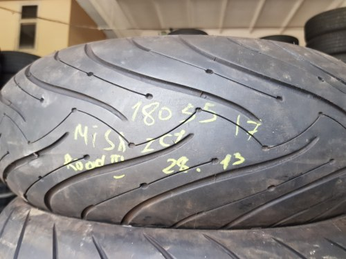 Мотошины 180/55 zr17 Michelin Pilot Road 320 Т 28 неделя 13 год 20% износ