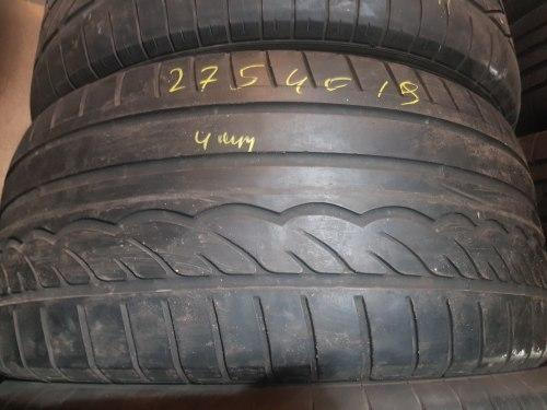 Одна шина 275/40R19 Dunlop SP 01 мягкая.