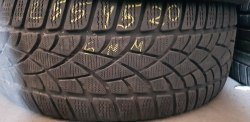 Одна шина 255/45 R20 Dunlop Winter Sport 3D 6мм
