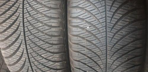 Пара шин 215 55 R17 Goodyear Vector 4seasons состояние новой