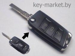 Ключ (корпус) Volkswagen Passat Bora Jetta Golf