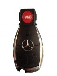 Ключ Mercedes 3 кнопки хром