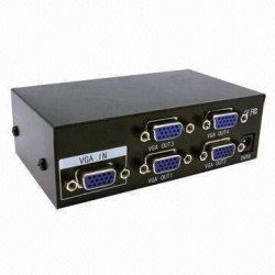 VGA Splitter 1*4 Сплиттер 1x4 500Mhz (из 1-VGA в 4-VGA)
