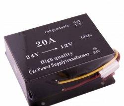 Преобразователь напряжения 24/12V 20A для автомобиля с 24 на 12 вольт