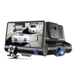 Автомобильный видеорегистратор с 3 камерами