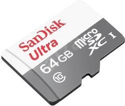 Карта памяти SanDisk Ultra microSDXC Class 10 UHS-I 80MB/s 64GB