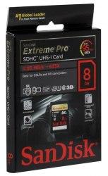 Карта памяти SanDisk Extreme Pro SDHC UHS Class 1 95MB/s 8GB