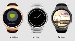 Умные часы Smart Watch KingWear KW18 с пульсометром (черный/черный ремешок)