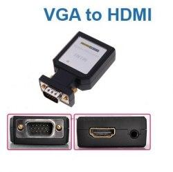 Переходник VGA HDMI питание ОТ USB, Конвертер, Адаптер Металл