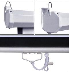 """Экран для проектора 100"""" дюймов 16:9 белый, матовый 221*125 см"""