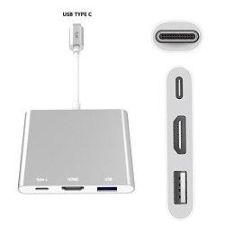 USB tipe-c конвертер в HDMI, USB и USB tipe C