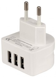 Зарядное устройство 5V 3A USB белое