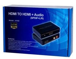 Конвертер сигнала HDMI в сигнал HDMI с выводом звука (SPDIF и R/L)