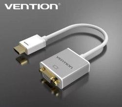 Vention Конвертер с HDMI на VGA с аудио Активный, переходник со звуком HDMI to VGA+3.5 audio (от HDMI на VGA)