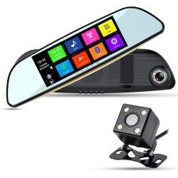 """Автомобильный видеорегистратор XPX ZX837 (5"""", с 2 камерами, WiFi Android 4.4)"""