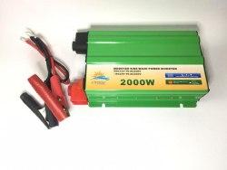 Инвертор 12-220V 2000W 12 на 220вольт 2000 Ват преобразователь напряжения Солнце