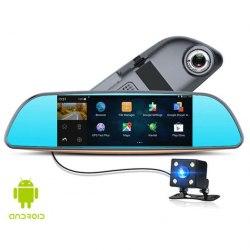 Видеорегистратор в зеркале XPX ZX857 2-t камеры, в зеркале заднего обзора + камера заднего вида, Android