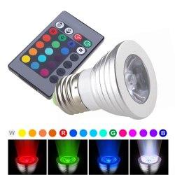 Лампочка светодиодная с пультом управления, меняющая цвет (16 цветов, 4 режима) RGB