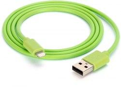 Кабель для iphone 7 Ldinio силиконовый 1 метр ярко зеленый