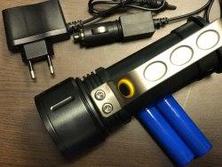 Фонарь ручной светодиодный ARDAX 8000Lum аккумуляторный