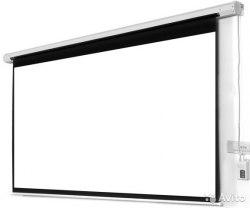 """Моторизированный экран для проектора с электроприводом 150"""" дюймов 330*185 см с пультом ДУ"""