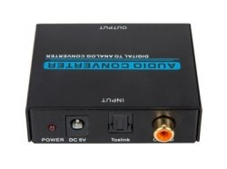 Аудио переходник (конвертер, адаптер) Из Цифровой Коаксиальный и Оптический Toslink на R/L Стерео аудио (тюльпаны или 3,5 Jack) (Digitall to Analog)
