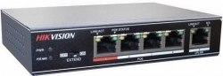 Коммутатор Ethernet с PoE настольный Hikvision DS-3E0105P-E