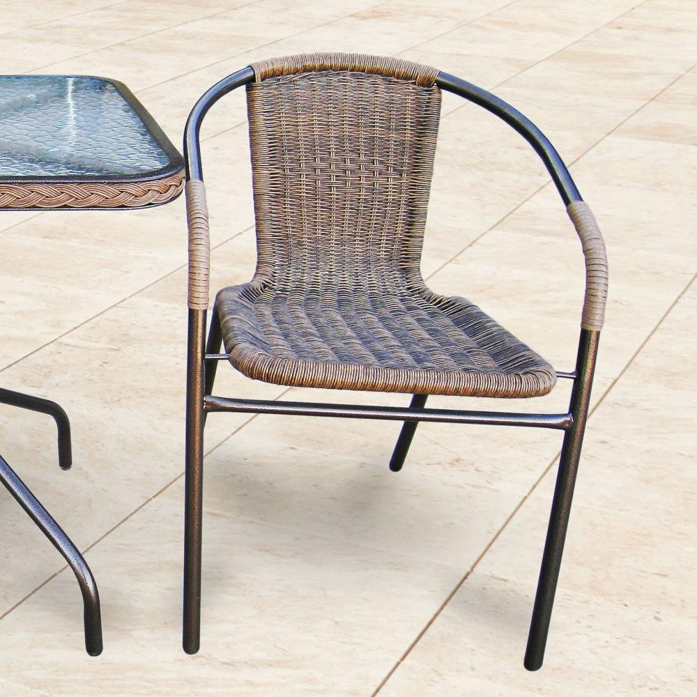 Купить комплект мебели для балкона из искусственного ротанга.