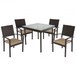 Комплект обеденный Hamburg (4 кресла, стол)