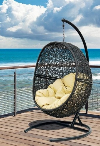 Подвесное кресло Lunar Black