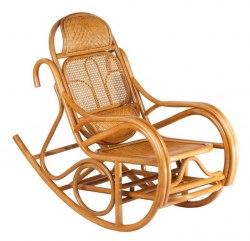 Кресло-качалка JR ALDINO натуральный ротанг