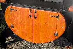 Дверцы деревянные для дровницы КМ-8