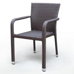 Плетеный стул из искусственного ротанга A2001B-AD69 Brown