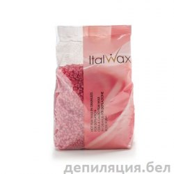 """Пленочный воск для депиляции ItalWax """"Роза"""" 1000 гр."""