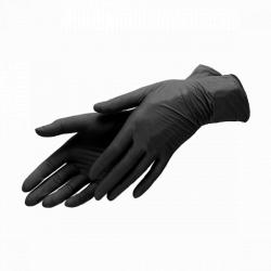 Перчатки виниловые черные 100 шт M