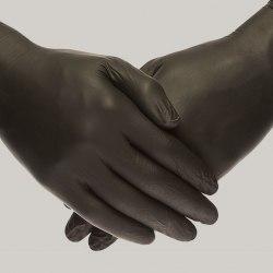 Перчатки нитриловые чёрные XS 100 шт 50 пар