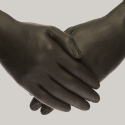 Перчатки нитриловые черные XS 100 шт 50 пар