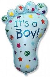 """Фольгированный шар """"Ступня мальчика"""" 35"""" (89 см)"""