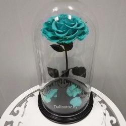 Роза в стеклянной колбе (тиффани) SuperVIP