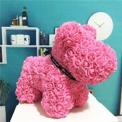 Собачка из роз (Розовая)