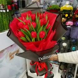"""Букет тюльпанов """"Красный акцент"""""""